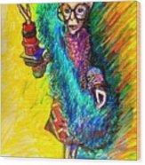 Iris Apfel Wood Print