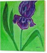 Iris Bloom Wood Print
