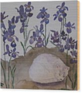 Iris Dreams Wood Print