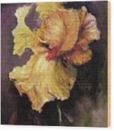 Iris Gold Wood Print