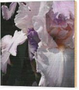 Iris Lace Wood Print