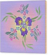Iris Pinwheel Wood Print