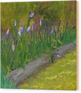 Iris Procession Wood Print