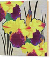 Iris Shadow Wood Print