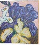 Iris Still Life Wood Print