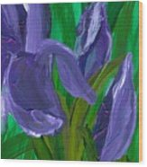 Iris Up Close And Personal Wood Print
