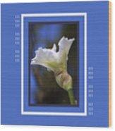 Iris White With Design Wood Print