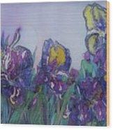 Irises2 Wood Print