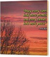 Irish Blessing - May Every Sunrise... Wood Print