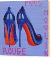 Irish Burlesque Shoes Wood Print