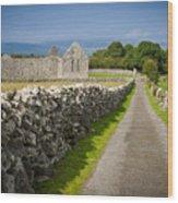 Irish Church Ruins Wood Print