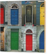 Irish Doors Wood Print