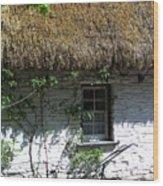 Irish Farm Cottage Window County Cork Ireland Wood Print