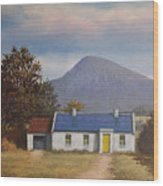 Irish Farmhouse Near Croagh Patrick Wood Print