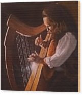 Irish Harp Wood Print