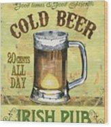 Irish Pub Wood Print