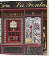 Irish Pub In Spain Wood Print