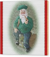 Irish Santa Card Wood Print
