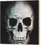 Irish Skull Wood Print