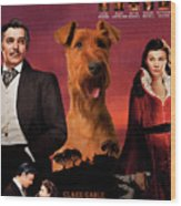 Irish Terrier Art Canvas Print - Gone To The Wind Movie Poster Wood Print