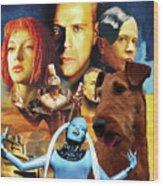 Irish Terrier Art Canvas Print - The Fifth Element Movie Poster Wood Print