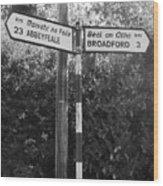 Irish Village Sign County Limerick. Wood Print