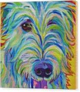 Irish Wolfhound - Angus Wood Print by Alicia VanNoy Call