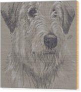 Irish Wolfhound Wood Print
