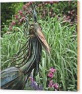 Iron Bird Wood Print