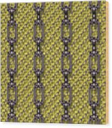 Iron Chains With Knit Seamless Texture Wood Print