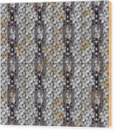 Iron Chains With Metal Panels Seamless Texture Wood Print