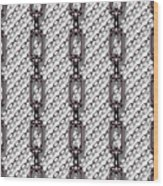 Iron Chains With White Background Seamless Texture Wood Print