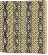 Iron Chains With Wood Seamless Texture Wood Print