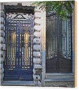 Iron Door Of Brussels Wood Print