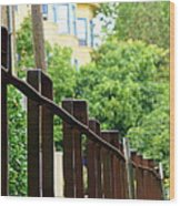 Iron Fence 2 Wood Print