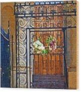 Iron Gate Wood Print