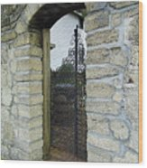 Iron Gate To The Garden Wood Print