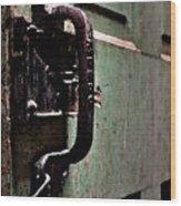 Iron Ic Door Handle Wood Print