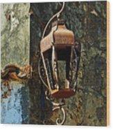 Iron Lamp 7868 Wood Print