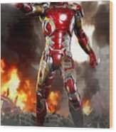 Iron Man - No Battle Damage Wood Print