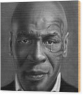 Iron Mike Tyson Drawing Wood Print