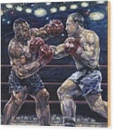 Iron Mike Vs. Rocky Wood Print
