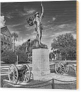 Iron Mke Statue - Parris Island Wood Print by Scott Hansen