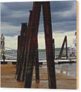 Iron Pillars Wood Print