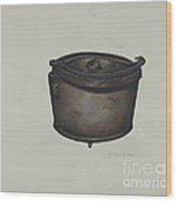 Iron Pot And Pot Hooks Wood Print