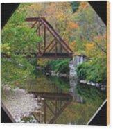 Iron Railroad Bridge From Worrall Covered Bridge Wood Print