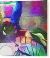 Ironman Abstract Digital Paint 3 Wood Print