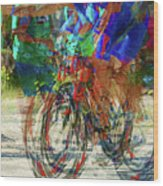 Ironman Bicyclist 2109 Wood Print by David Mosby