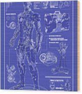 Ironman Patent Wood Print