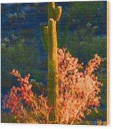 Ironwood Saguaro Dance - Bold Wood Print